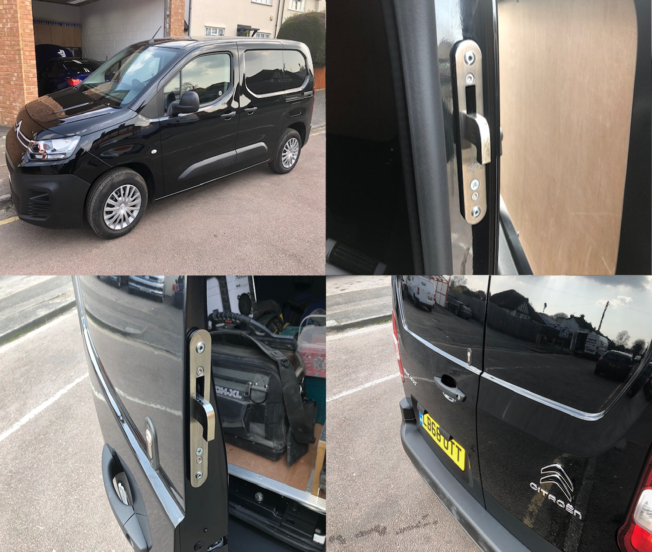 Citroen Berlingo 2018> Rear Van Security Hooklock Deadlock Kit product picture