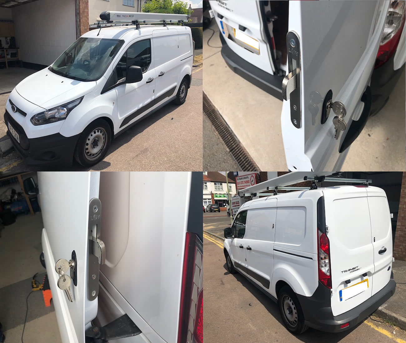 Car Sounds  U0026 Security   Store   Na Ford Transit Connect 2014 U0026gt  Rear Van Security Deadlock Kit