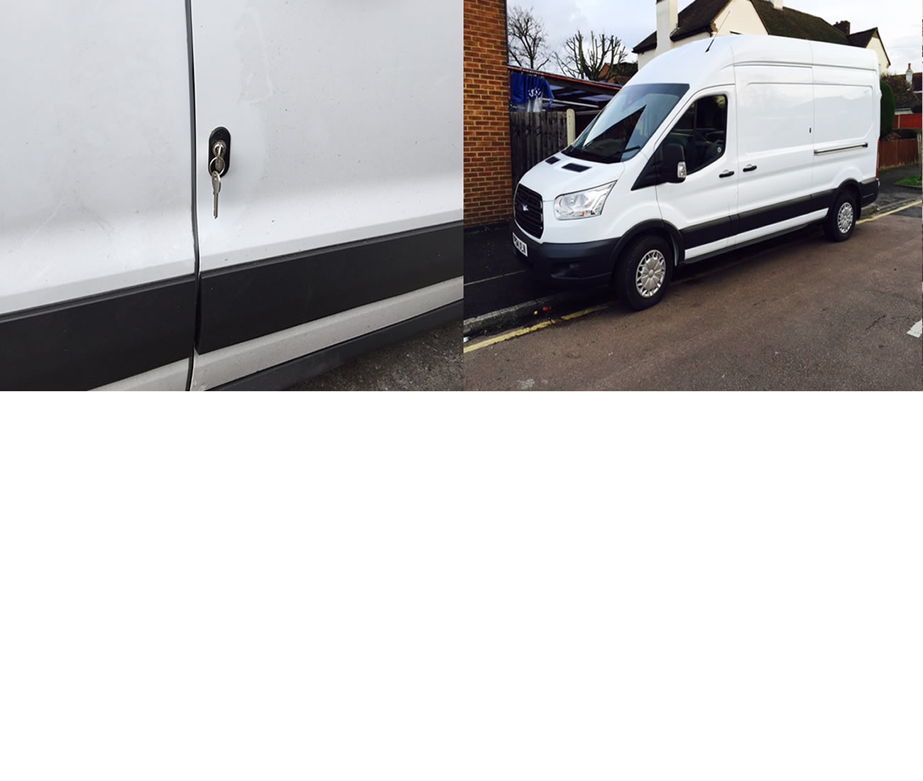 Ford Transit MK8 2014> Front Doors Van Deadlock Security Kit product picture