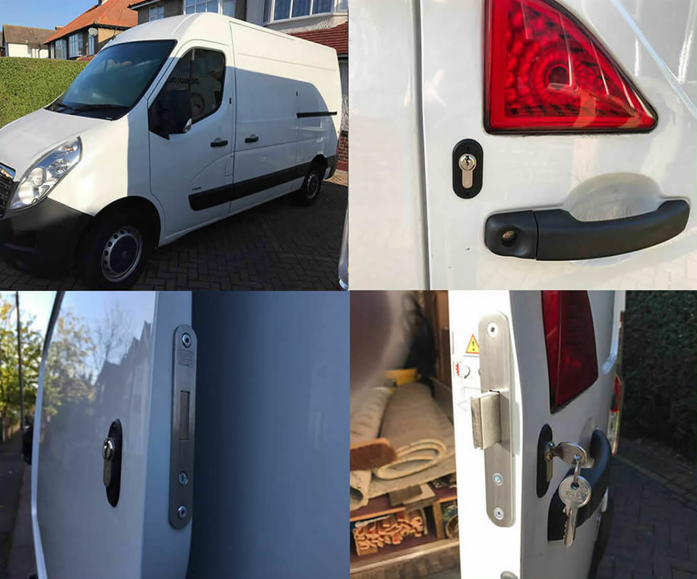 Vauxhall Movano 2010> Rear Van Security Deadlock Kit product picture